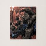 Hombre lobo rojo de la luna puzzle con fotos