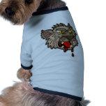 Hombre lobo sediento de la sangre camiseta de mascota