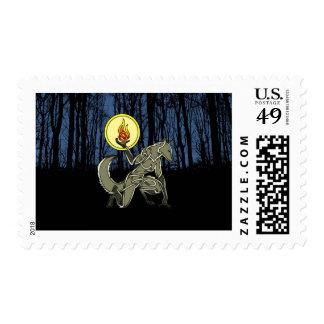 Hombre lobo sello