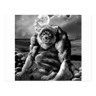 hombre lobo tarjeta postal