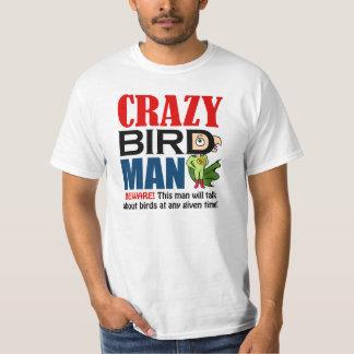 Hombre loco del pájaro camisas