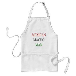 Hombre machista mexicano delantal