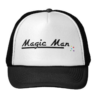 Hombre mágico gorro de camionero