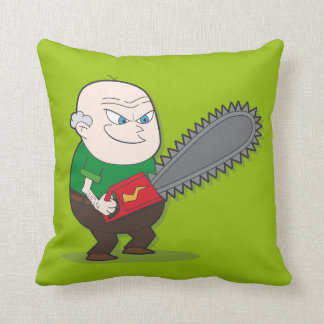 Hombre malvado de la motosierra almohada