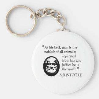 hombre, más noble de los animales, llavero de Aris