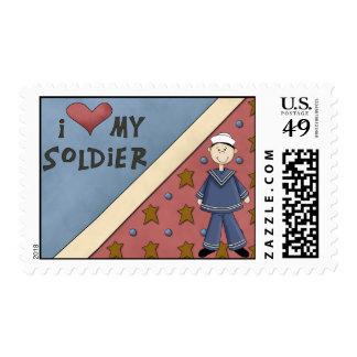 Hombre militar Postag del soldado del marinero de Sello