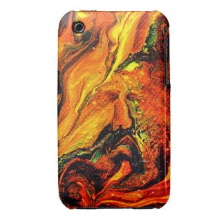 Hombre místico del bigote > arte abstracto para el iPhone 3 Case-Mate funda