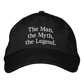 Hombre, mito, gorra de la leyenda gorra de beisbol bordada