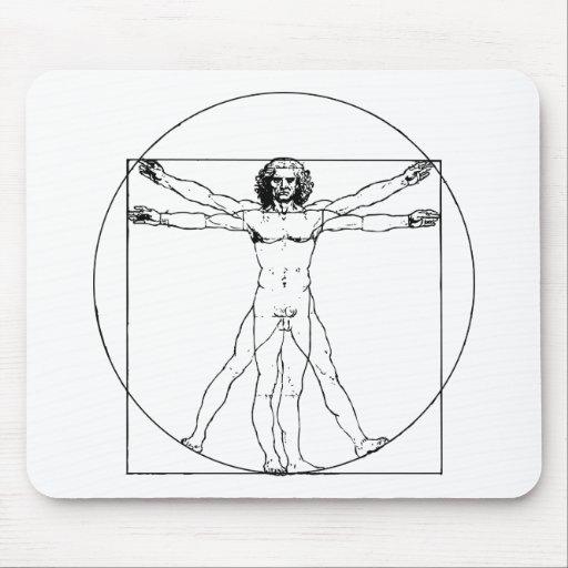 Hombre Mousepad de da Vinci Vitruvian Alfombrilla De Ratón