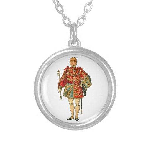 Hombre noble medieval colgante personalizado