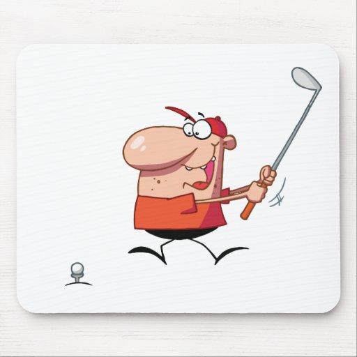 Hombre-oscilación-golf-club Tapetes De Raton