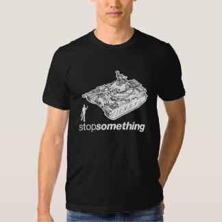 """Hombre """"parada del tanque algo"""" camiseta poleras"""