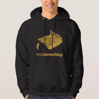 """Hombre """"parada del tanque algo"""" camiseta pulóver con capucha"""
