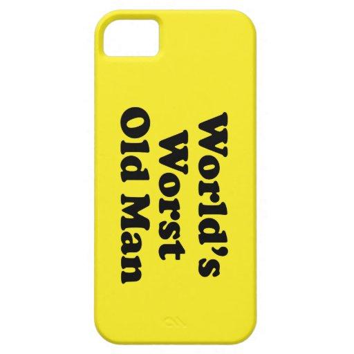Hombre peor del mundo el viejo iPhone 5 funda