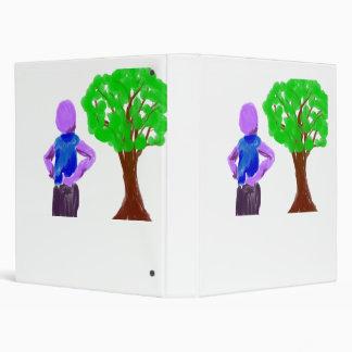 "Hombre púrpura del dibujo animado y roble verde carpeta 1"""