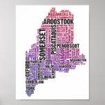 Hombre púrpura/rojo de la impresión de la tipograf posters