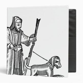 """Hombre que camina su perro carpeta 1 1/2"""""""