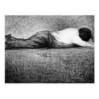 Hombre que duerme por Jorte Seurat Postal