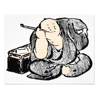 Hombre que fuma de Hokusai Invitaciones Personalizada