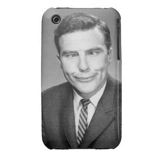 Hombre que hace la cara iPhone 3 Case-Mate funda