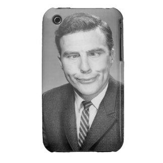 Hombre que hace la cara iPhone 3 carcasas