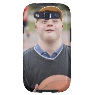 Hombre que juega a baloncesto galaxy s3 fundas