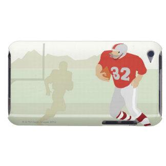 Hombre que juega a fútbol americano iPod touch carcasa