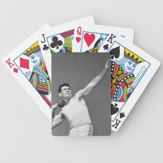 Hombre que lanza Shotput Baraja Cartas De Poker