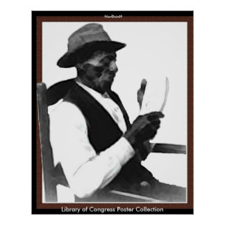 Hombre que lee una historia póster