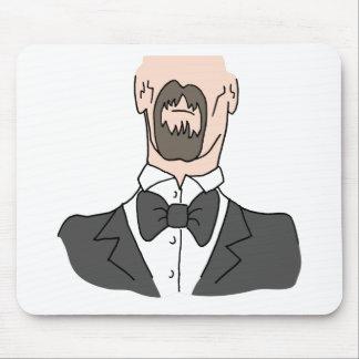 Hombre que lleva una pajarita tapete de ratón