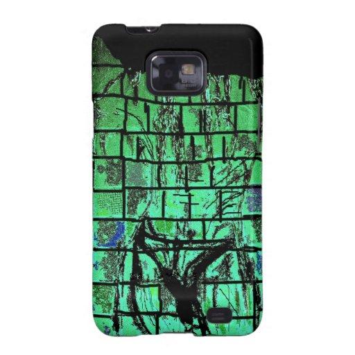 Hombre que riega en la pintura abstracta de Speedo Samsung Galaxy SII Fundas