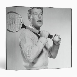 "Hombre que sostiene la estafa de tenis carpeta 1 1/2"""
