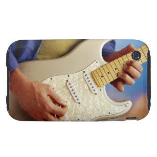 Hombre que toca la guitarra eléctrica funda though para iPhone 3