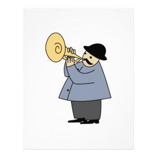 Hombre que toca un instrumento musical membrete