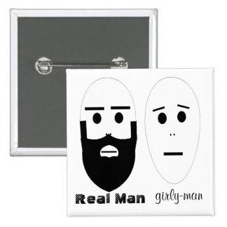 Hombre real pin cuadrada 5 cm