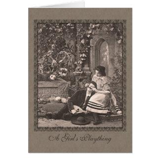 Hombre romántico divertido del Victorian con el Tarjeta De Felicitación