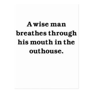 Hombre sabio (dependencia) postales