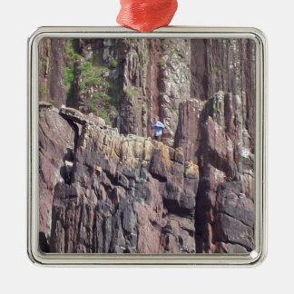 Hombre salvaje en los acantilados ornaments para arbol de navidad