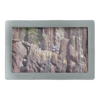 Hombre salvaje en los acantilados hebilla cinturón rectangular