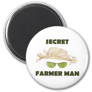 Hombre secreto del granjero imanes
