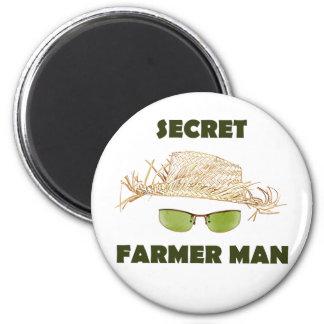 Hombre secreto del granjero imanes de nevera