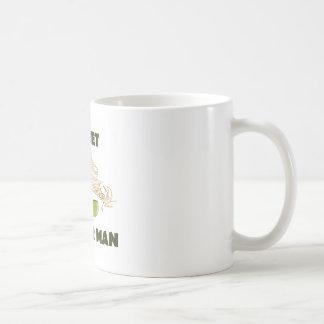 Hombre secreto del granjero taza de café
