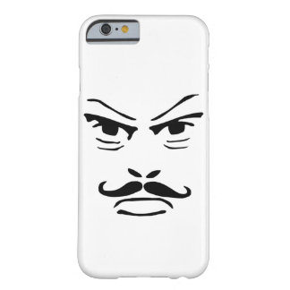 Hombre serio del bigote funda de iPhone 6 barely there