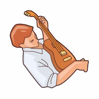 hombre sideways.png del guitarrista escultura fotografica