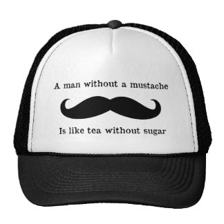 Hombre sin un gorra del bigote