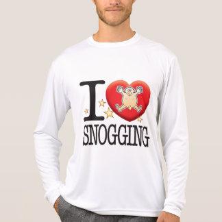 Hombre Snogging del amor Playeras