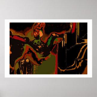 Hombre solamente (coloreado adentro) póster