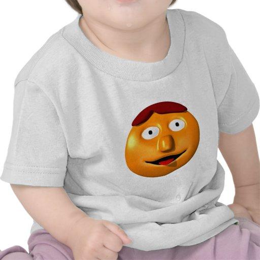 Hombre sonriente anaranjado con su tounge hacia camiseta