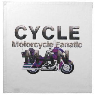 Hombre SUPERIOR de la motocicleta Servilleta Imprimida