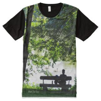 Hombre-Todo-Sobre-Imprimir-Panel-T-Camisa de la